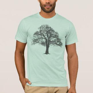 Silueta del árbol, camiseta unisex del ajuste
