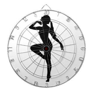 Silueta del bailarín de ballet diana
