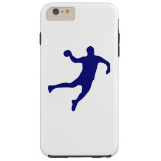 Silueta del balonmano funda resistente iPhone 6 plus