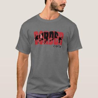 Silueta del border collie camiseta