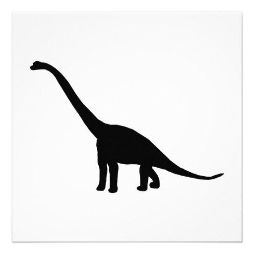 Silueta del Brontosaurus del dinosaurio Invitacion Personalizada