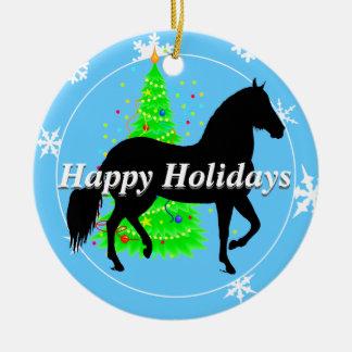 Silueta del caballo de Paso Fino buenas fiestas Ornamento Para Reyes Magos