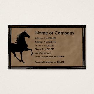 Silueta del caballo de Tennessee que camina Tarjeta De Visita
