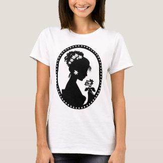 Silueta del camafeo del Victorian Camiseta
