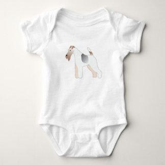 Silueta del ejemplo de la raza del perro del fox body para bebé