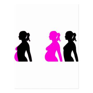 Silueta del embarazo postal