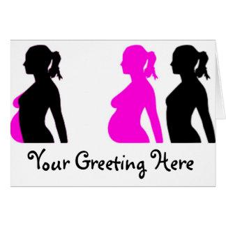 Silueta del embarazo tarjetón