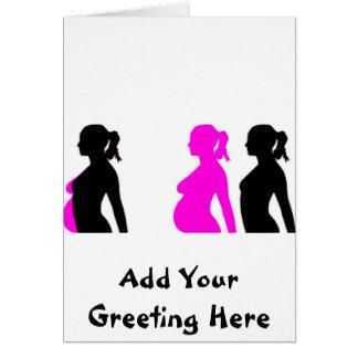 Silueta del embarazo felicitación