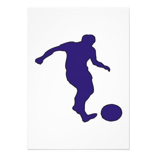 Silueta del fútbol comunicados personalizados
