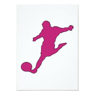 Silueta del fútbol invitación 12,7 x 17,8 cm