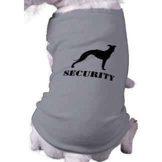 Silueta del galgo italiano con el texto de encargo camiseta sin mangas para perro