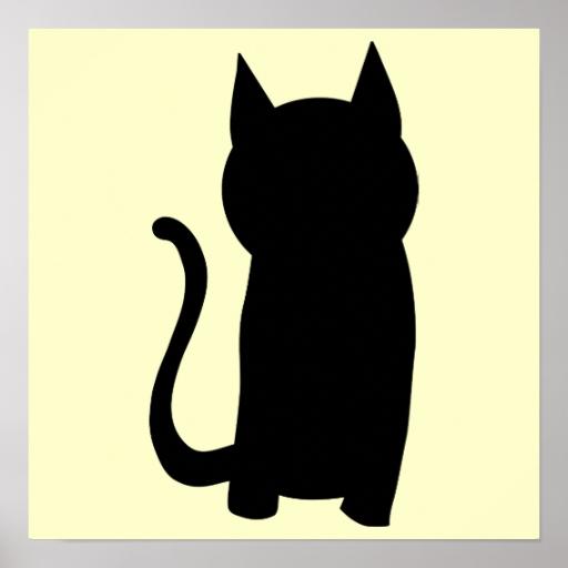 silueta de gato negro - photo #7