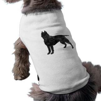 Silueta del Grunge del perro del pitbull Camiseta Sin Mangas Para Perro