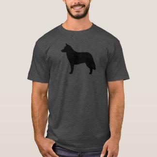 Silueta del husky siberiano camiseta