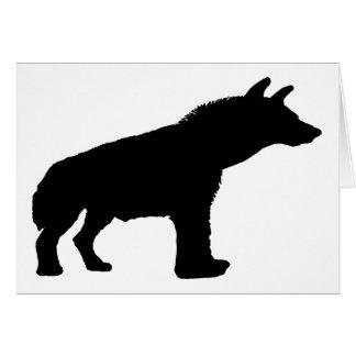 silueta del hyena tarjeta de felicitación