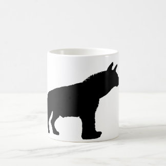 silueta del hyena taza de café