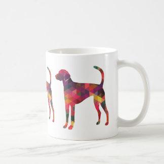 Silueta del modelo de Geo del raposero americano - Taza De Café