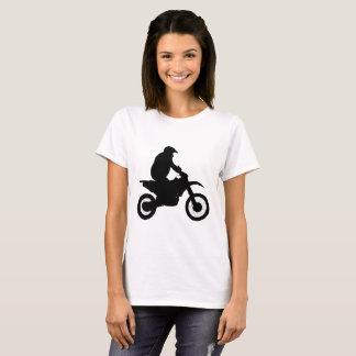 Silueta del motocrós camiseta