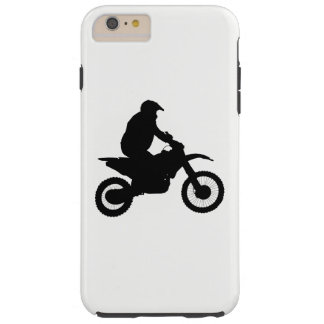 Silueta del motocrós funda resistente iPhone 6 plus
