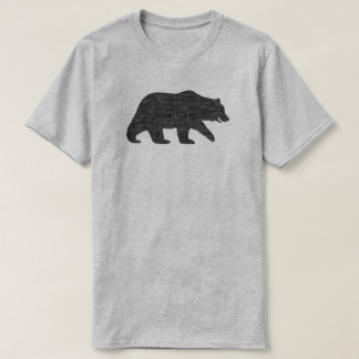 Silueta del oso grizzly camiseta