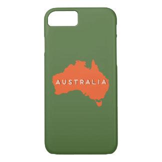 Silueta del país de Australia Funda iPhone 7