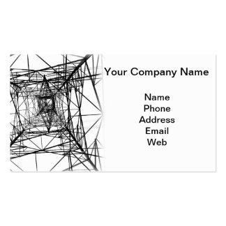 Silueta del palo de alto voltaje del poder plantilla de tarjeta de negocio