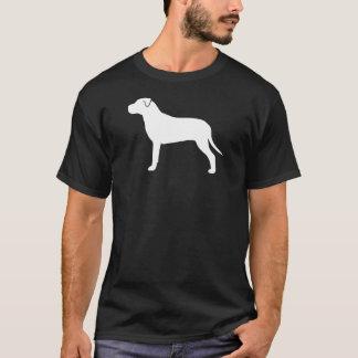 Silueta del perro del pitbull camiseta