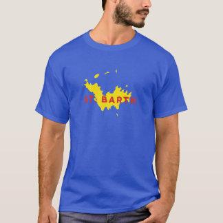 Silueta del St. Barth Camiseta