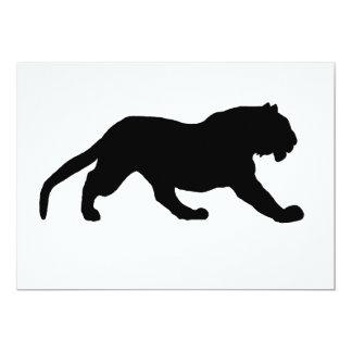 Silueta del tigre invitación 12,7 x 17,8 cm