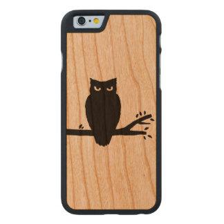 Silueta fantasmagórica del búho funda de cerezo para iPhone 6 de carved