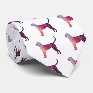 Silueta geométrica del modelo del raposero inglés corbatas personalizadas