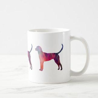 Silueta geométrica del modelo del raposero inglés taza de café