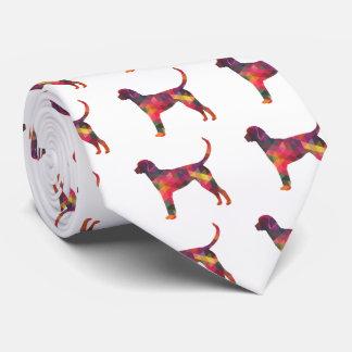 Silueta geométrica del perro del modelo del corbata