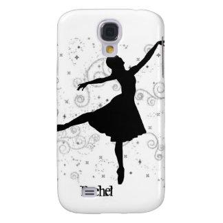 Silueta iPhone3G de la bailarina Funda Para Galaxy S4