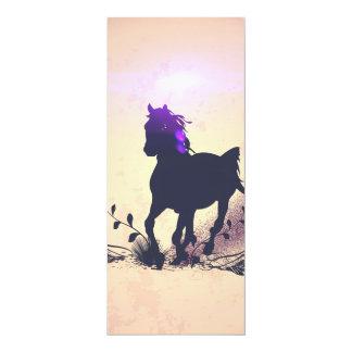 Silueta negra del caballo invitación 10,1 x 23,5 cm