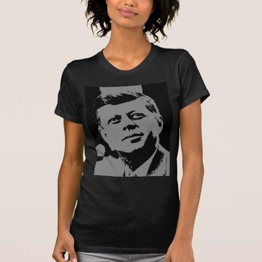 Silueta negra y gris de John F. Kennedy Camiseta