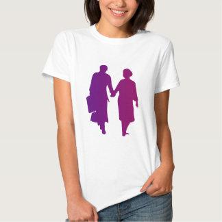 Silueta pareja couple camiseta