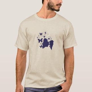 Silueta principal de Papillon Camiseta