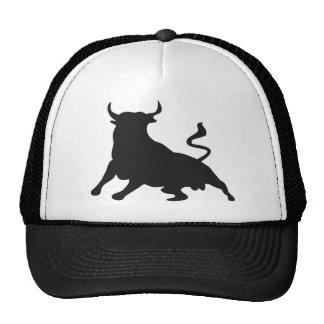 Silueta que corre con los toros España Gorro