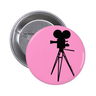 Silueta retra de la cámara de película chapa redonda de 5 cm