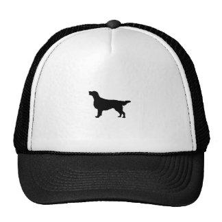 Silueta revestida plana del perro de caza de gorra