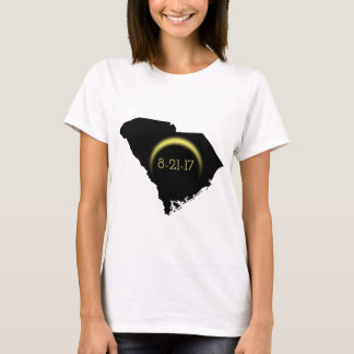 Silueta total 2017 de Carolina del Sur del eclipse Camiseta