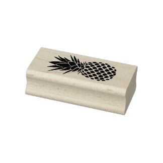 silueta tropical moderna de la piña sello de caucho