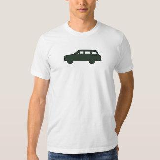 Silueta - verde del olmo camisetas