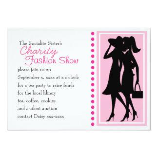 Siluetas de la moda invitación 12,7 x 17,8 cm