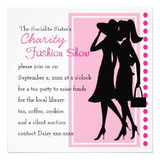 Siluetas de la moda invitaciones personales