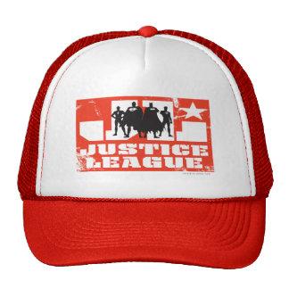 Siluetas del logotipo y del carácter de la liga de gorras de camionero