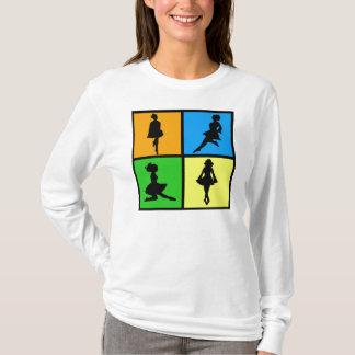 siluetas irlandesas del bailarín del iDance Camiseta