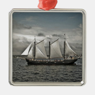 Silva alto Halifax de la nave Adorno Navideño Cuadrado De Metal
