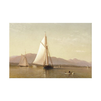 Silva de Francisco Augustus - el Hudson en Tappan Impresión En Lienzo